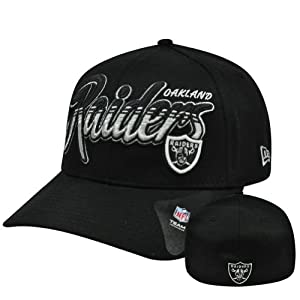 NFL New Era 39Thirty 3930 M L Oakland Raiders Dub Tone Script Flex Fit Hat Cap by New Era