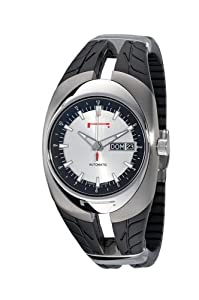 Pzero Pirelli - Reloj analógico de cuarzo para mujer con correa de caucho, color negro