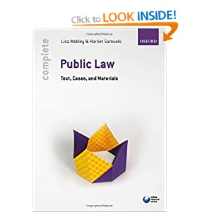 Complete Public Law: Text, Cases, and Materials Lisa Webley and Harriet Samuels