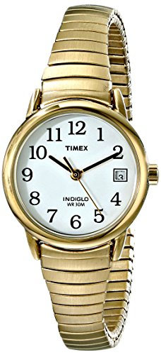 Timex Women'S T2H351 Easy Reader Gold-Tone Expansion Band Watch front-490945