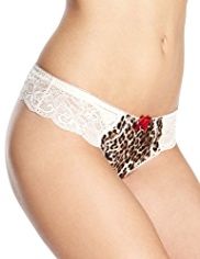 Limited Collection Low Rise Animal Print Thong