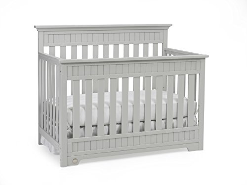 Fisher-Price Lakeland 5-in-1 Convertible Crib, Misty Grey - 1