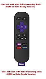 Roku Standard Remote with Channel Shortcut Buttons [Works with All Roku Models Except the Roku Streaming Stick (Hdmi® Version) (3500r, 3500rw) and Roku Streaming Stick (Roku Ready Version) (3400r, 3400m, 3420h).