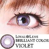 処方箋不要 ブリリアントカラー カラー コンタクト レンズ 度あり / 度なし 1箱1枚入 バイオレット PWR±0.00(度なし) ランキングお取り寄せ