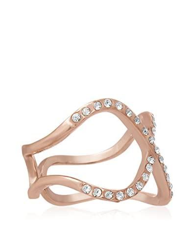 Adoriana Pave Crystal X Rose Gold-Plated Ring