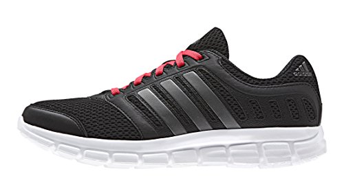 adidas - Breeze 101 2, Sneakers donna, color Nero (Core Black/Night Met./Shock Red), talla 40