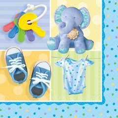 "Teeny Tiny Boy 13"" Lunch Napkins - 16/Pkg. - 1"