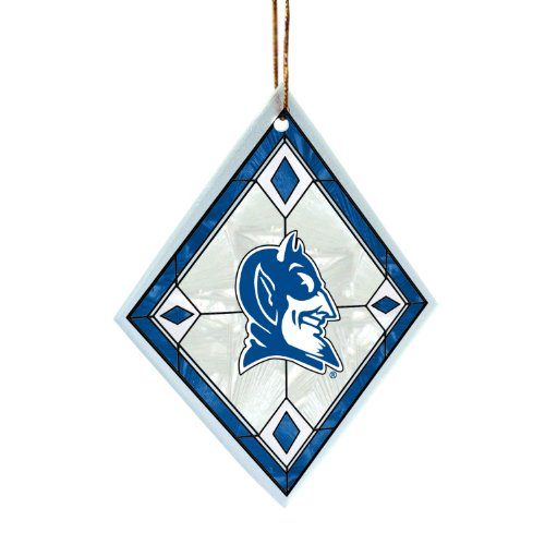 NCAA Duke Blue Devils Art Glass Ornament at Amazon.com