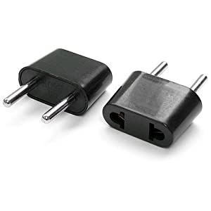 ckitze usa to europe round travel plug adapter. Black Bedroom Furniture Sets. Home Design Ideas