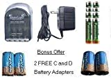 4 Hr AAAA Smart Charger 8 AA 2050 mAh Panasonic Low Discharge Batteries Bonus Offer