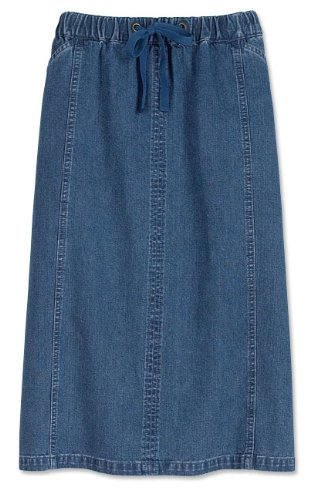 Paneled Vintage Denim Skirt / Paneled Vintage Denim Skirt, Small