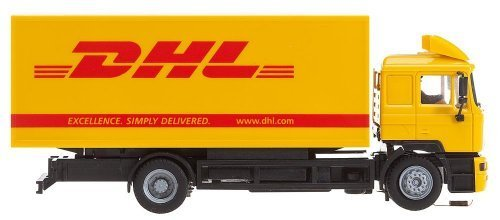 ho-scale-car-system-digital-30-starter-set-man-f2000-evolution-box-truck-dhl-by-faller