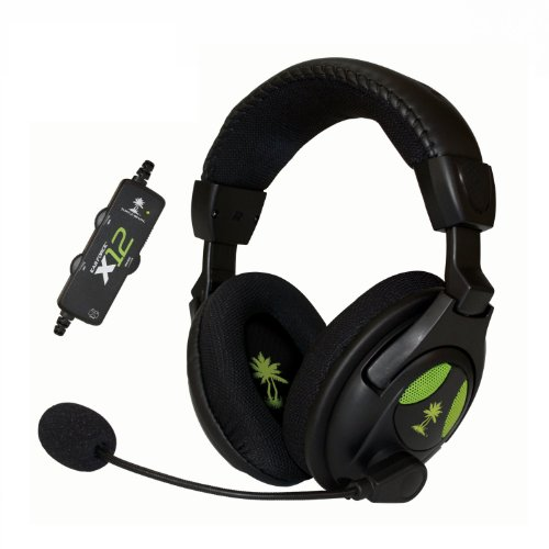 Turtle Beach Ear Force X12 Gaming Headset W/ In-Line Amplifier, Headphones With Amplified Audio Stereo Sound, Bass Boost, Microphone Monitoring, Independent Chat Volume Control For Xbox 360, Xbox 360 E, And Windows Pc'S - Works With Xbox One And Playstati