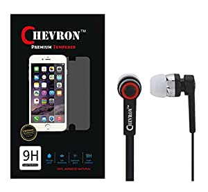 Chevron 0.3mm Tempered Glass Screen Guard Protector For Lenovo K3 Note With 3.5mm Stereo Earphones
