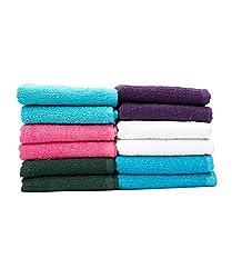 Casa Copenhagen-Basics Set Of 10 Pcs Face Towels-(Assorted Any 10 Pcs Face Towels)...
