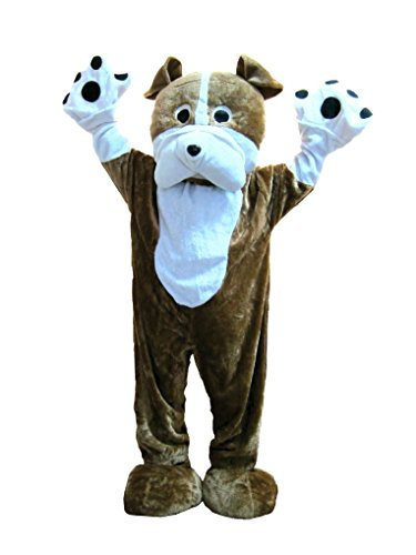 [Mygems Adult Unisex Bulldog Mascot Fancy Dress Fancy Dress Costume] (Blue Bull Mascot Costume)