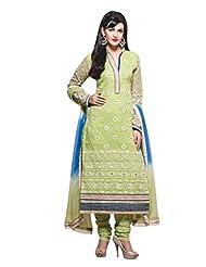 Nirali Womens Cotton Salwar Kameez Semi Stitched - Free Size - B00Y4RAQ04