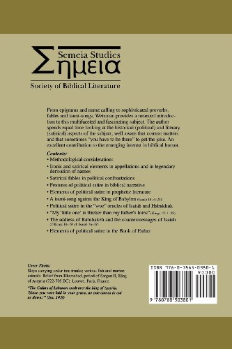 Political Satire in the Bible (Society of Biblical Literature Semeia Studies)