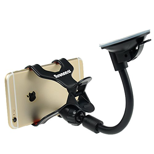 ArunnersTM Car Dashboard Cellphone Mount 360 Rotation Universal Car One Touch Windshield Mount Holder Cradle for Smartphones iphone SE/6/6s/6 plus/6s Plus, Samsung Galaxy S6/S7 Edge - Black (Lg G2 Windshield Mount compare prices)