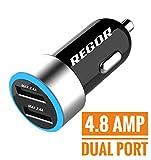 #4: Regor [4.8Amp - 2 Port] Hi-Speed Car Charger for all smartphones & tablets