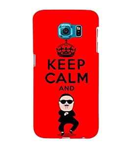 EPICCASE Keep Calm and Swing Mobile Back Case Cover For Samsung Galaxy S6 Edge Plus (Designer Case)