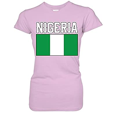 Nigeria Bold Flag Lettering - Nigerian National Pride Juniors T-Shirt