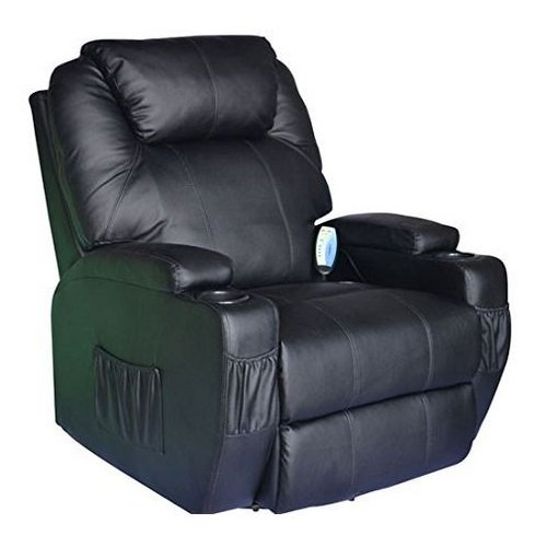 Cavendish electric recliner chair with heat /massage - choice of colours (Black)