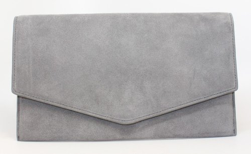 Cole Haan Crosby Suede Envelope Clutch in Ironstone