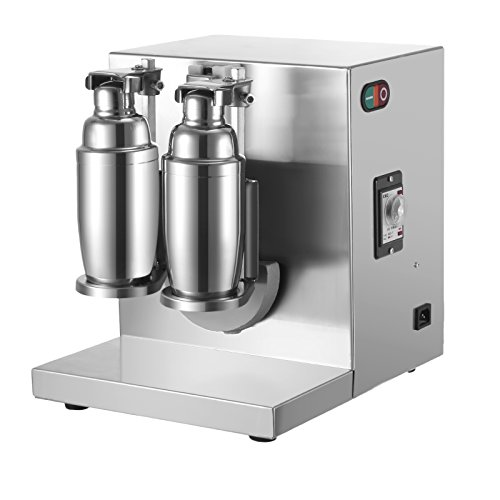 Happybuy Milk Tea Shaker Double Frame Milk Tea Shaking Machine 400r/min Stainless Steel Auto Tea Milk Making Machine for Boba Milk Tea (Bubble Tea Shaker Machine compare prices)