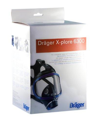 Dräger X-plore 6300 Vollmaske mit Gewindeanschluss nach DIN EN 148-1