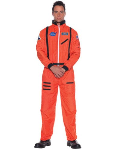 Astronaut Mens Orange 2X Adult Mens Costume