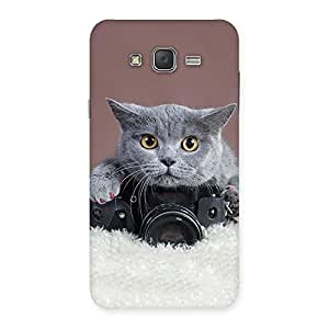 Cute Kitty Photograph Back Case Cover for Galaxy J7
