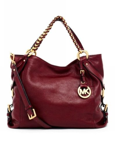 Michael Michael Kors Tristan Large Shoulder Tote Bordeaux
