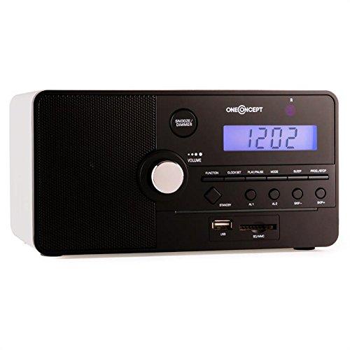 oneConcept Luzern radio radiosveglia SD USB bianca