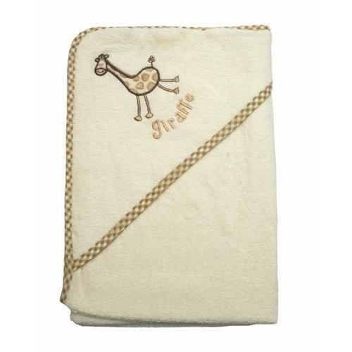 Baby/Babies Giraffe Design Hooded Bathrobe 100% Cotton Towel Bath Robe (75cm x 75cm) (Beige)