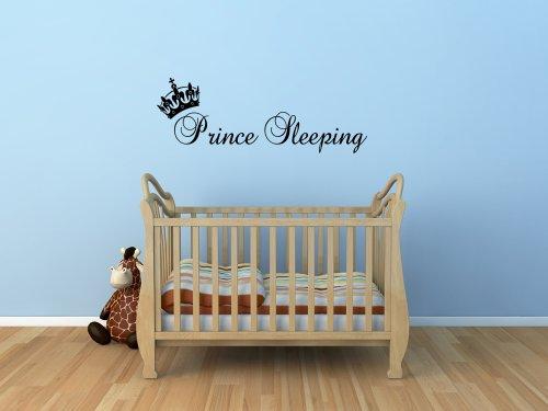 Prince Sleeping Wall Sticker Boys Bedroom front-199799