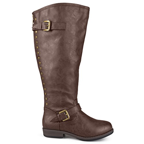 Brinley Co Women's Durango-Xwc Riding Boot, Brown Extra Wide Calf, 9.5 M US