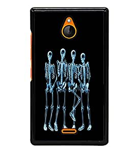 printtech Funny Xray Skeleton Back Case Cover for  Nokia X2 RM-1013, Nokia X2DS
