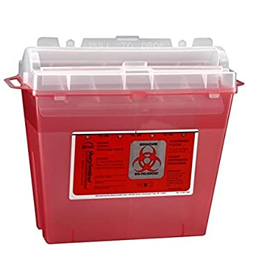 Sharps Sentinel 175030 Sharps Container, 5 quart, Red