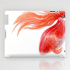 Society6 Goldfish Red Goldfish Gold Fish Watercolor Pain Ipad Case By