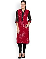 Ayaany Maroon Color Printed Casual Kurta For Women