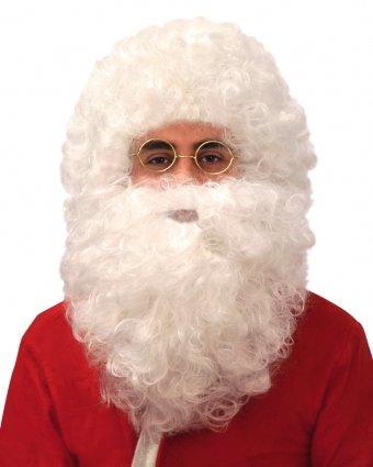 Pams Curly Santa Wig & Beard Set (Child Santa Wig And Beard)