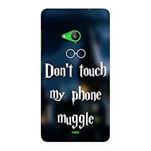 Impressive Dont Touch Back Case Cover for Lumia 535