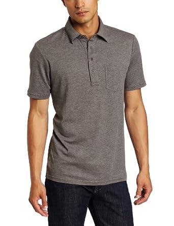 Michael Kors Men's Metal Button Polo Shirt, Ash Melange, Small