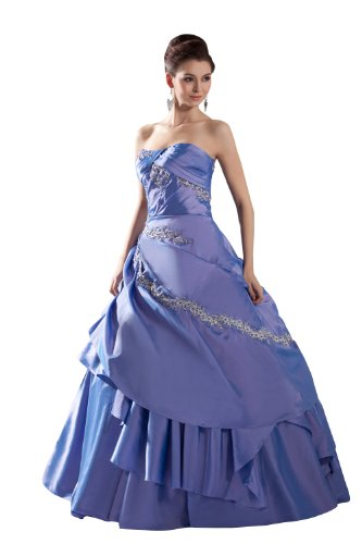 ImPrincess ip4-5357-20 Wedding Dress Medieval Style Dipped Strapless ...