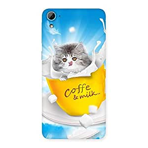 Cute Coffee Kitty Back Case Cover for HTC Desire 826
