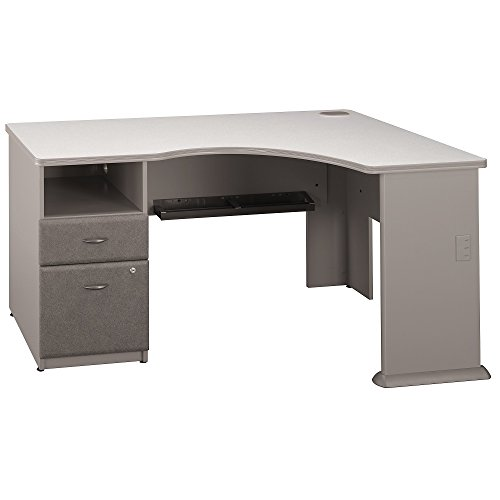 Bush Business Furniture Series A Expandable Corner Desk, Pewter (Bush Series A Corner compare prices)