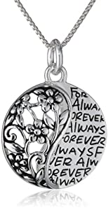 "Sterling Silver ""Sisters Forever"" Pendant Necklace"