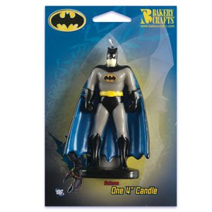 Batman Birthday Party Supplies Molded Candle