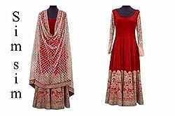 Shree Fashion Women's Georgette Unstitched Dress Materials [D167 (f)]